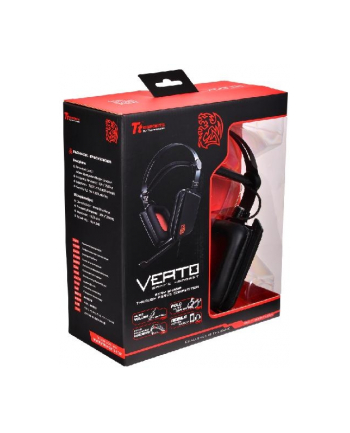 Thermaltake Tt eSports Słuchawki dla graczy - Verto Neodymium Magnet Black