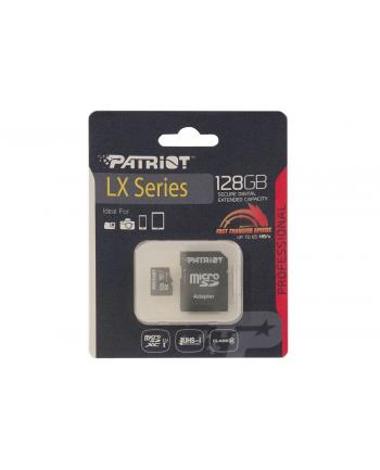Patriot LX Micro SDXC 128GB Class 10 UHS-I + Adapter