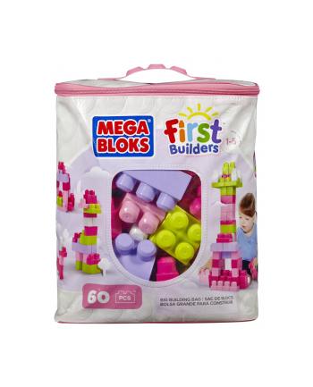 MEGA BLOKS Klocki 60 el. torba różowa