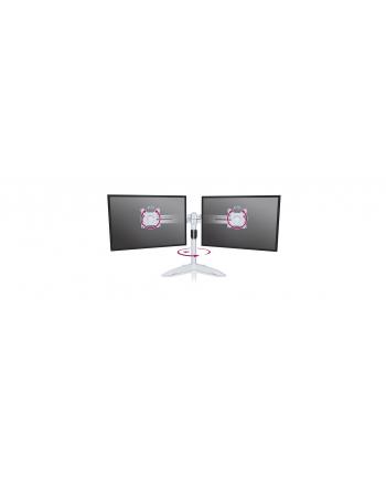 RaidSonic IcyBox Metalowy Uchwyt na dwa monitory (do 24''), podstawa wolnostojąca, Srebny