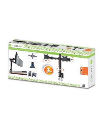 Techly Podwójne ramię do monitora LED/LCD 13-27'' 2x10kg regulowane czarne