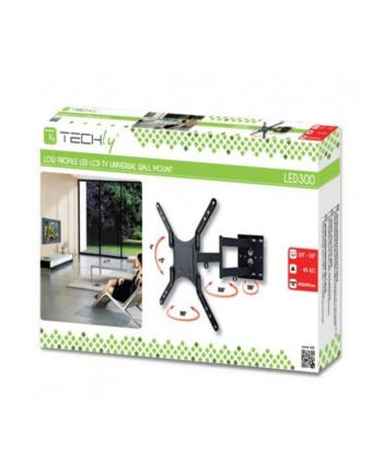 Techly Uchwyt ścienny do TV LCD/LED/PDP dwuprzegubowy 23-55'' 45 kg VESA czarny