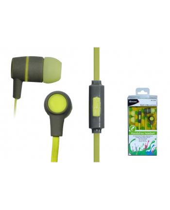 VAKOSS Słuchawki douszne stereo z mikrof./ regulacja głośności SK-214G szare