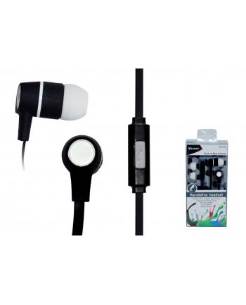 VAKOSS Słuchawki douszne stereo z mikrof./ regulacja głośności SK-214K czarne