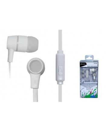 VAKOSS Słuchawki douszne stereo z mikrof./ regulacja głośności SK-214W białe