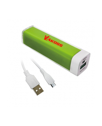 VAKOSS Power Bank 2000mAh, Li-Ion TP-2561E zielony