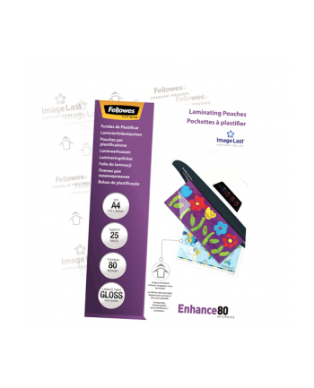 Fellowes Folie do laminowania 80 µ, 216x303 mm - A4, 25 szt.