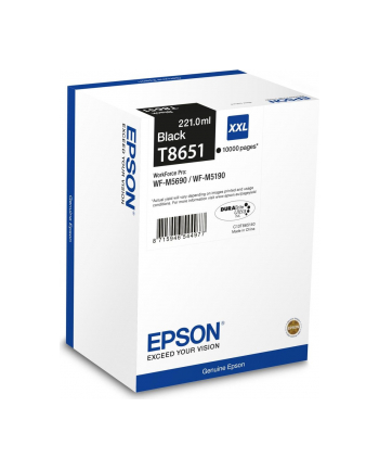 Tusz Epson T8651 black 10K | WF-M5690DWF/WF-M5190DW