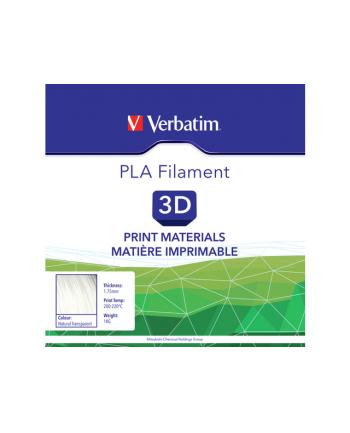 Filament VERBATIM / PLA / Naturalny Przeźroczysty / 1,75 mm / 1 kg