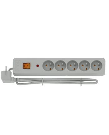 HSK DATA ACAR X5  listwa zasilająca / przeciwprzepięciowa (5 gniazd  kolor szary  długość  3metry) wieczysta gwarancja
