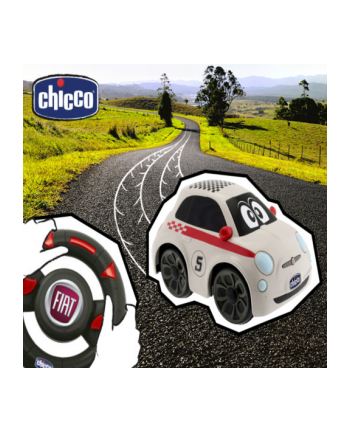 CHICCO Fiat 500 z pilotem biały