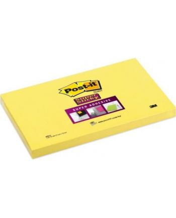 3M-POST-IT Bloczek samop. POST-IT® Super Sticky (655-S), 127x76mm, 1x90 kart., żółty