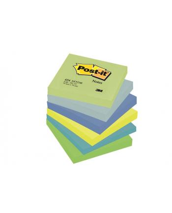 3M-POST-IT Bloczek samop. POST-IT® (654-MTDR), 76x76mm, 6x100 kart., paleta marzycielska