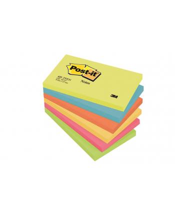 3M-POST-IT Bloczek samop. POST-IT® (655-TFEN), 127x76mm, 6x100 kart., paleta energetyczna