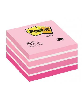 3M-POST-IT Kostka samop. POST-IT® (2028-P), 76x76mm, 1x450 kart., różowa