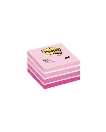 3M-POST-IT Kostka samop. POST-IT® (2028-NP), 76x76mm, 1x450 kart., cukierkowa różowa