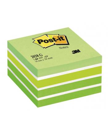 3M-POST-IT Kostka samop. POST-IT® (2028-G), 76x76mm, 1x450 kart., zielona
