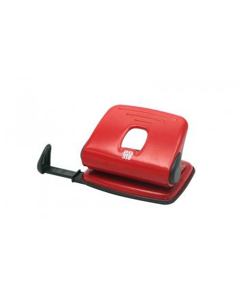 Dziurkacz SAX318, dziurkuje do 15 kartek, czerwony