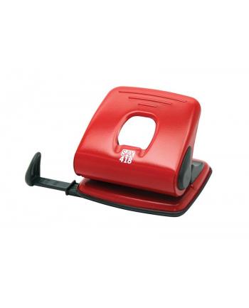 Dziurkacz SAX418, dziurkuje do 25 kartek, czerwony