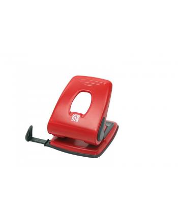 Dziurkacz SAX518, dziurkuje do 40 kartek, czerwony