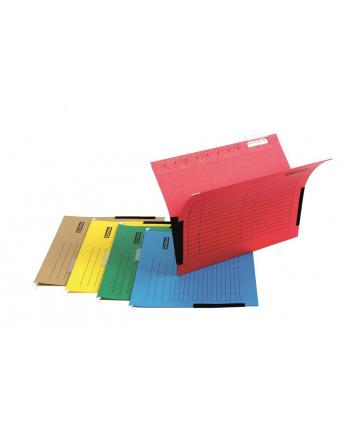 Teczka zawieszkowa DONAU z boczkami, A4, 230gsm, czerwona