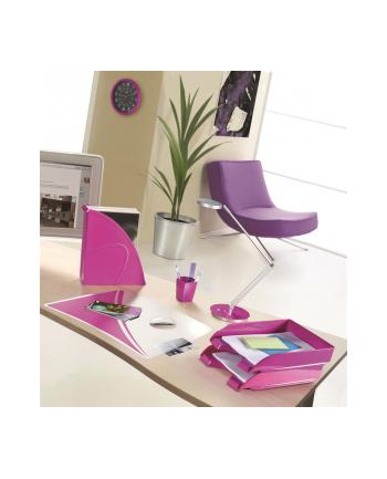 Pojemnik na dokumenty CEPPro Gloss, polistyren, różowy