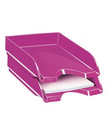 Szufladka na biurko CEPPro Gloss, polistyren, różowa