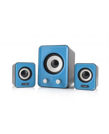 Logic Concept Technology LOGIC Głośniki 2.1 LS-20 (niebieskie) [ stereo ]