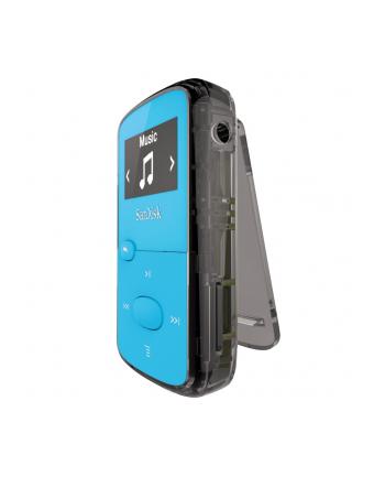 Sandisk Odtwarzacz MP3 CLip Jam 8GB, microSDHC, Radio FM, Niebieski