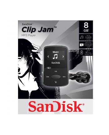 Sandisk Odtwarzacz MP3 CLip Jam 8GB, microSDHC, Radio FM, Czarny