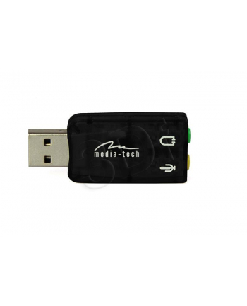 MEDIA-TECH KARTA DŹWIĘKOWA USB VIRTU 5.1  OFERUJĄCA WIRTUALNY DŹWIĘK 5.1 MT5101