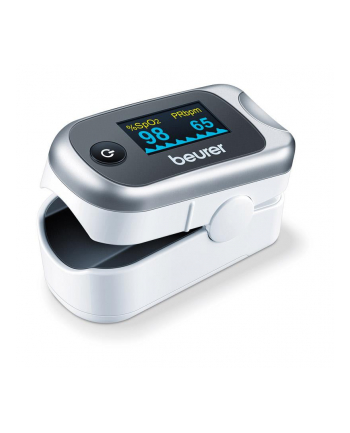 HIT ! Pulsoksymetr BEURER PO 40 z euti / Praktyczne urządzenie do samodzielnego monitorowania saturacji tlenem / Fuknkcje określania saturacji tętniczej, tętna oraz indeksu modulacji pulsu
