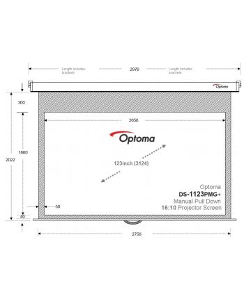 Ekran reczny DS-1123PMG+, obraz 2656 x 1660, 123', 16:10