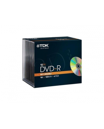 TDK DVD-R 4.7GB 16X SLIM-PACK 10SZT