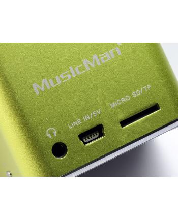 Technaxx MusicMan Mini Soundstation microSD mit Akku  grün