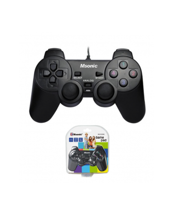 VAKOSS  Gamepad USB z wibracjami do PC/PS3 Msonic MN3329BK