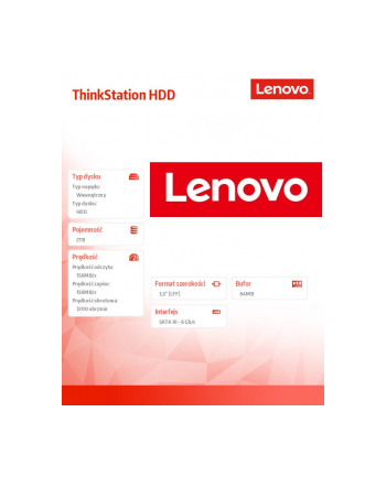 Lenovo ThinkStation 2TB 7200rpm 3.5' SATA 6Gbps Hard Drive