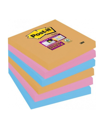 3M-POST-IT 6546SSEG Bloczek samoprzylepny Postit® Super Sticky, iskrzące kolory, 6 sztuk po