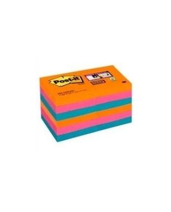 3M-POST-IT 62212SSEG Bloczek samoprzylepny Postit® Super Sticky, iskrzące kolory, 12 sztuk