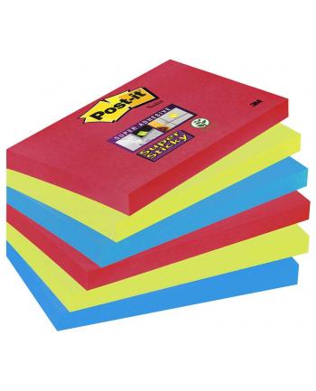 3M-POST-IT 6556SSJP Bloczek samoprzylepny Postit® Super Sticky, sercowe kolory, 6 sztuk po
