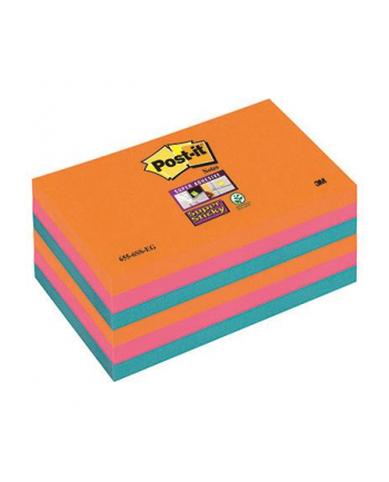 3M-POST-IT 6556SSEG Bloczek samoprzylepny Postit® Super Sticky, iskrzące kolory, 6 sztuk po