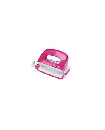 Dziurkacz Mini Leitz WOW metalowy Leitz, różowy metalik