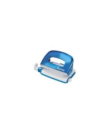 Dziurkacz Mini Leitz WOW metalowy Leitz, niebieski metalik