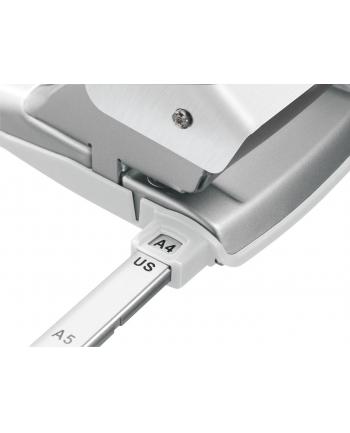 Dziurkacz duży metalowy Leitz Style, 10 lat gwarancji, 30 kartek, biały