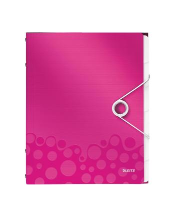 Teczka segregująca 6 przekładek PP Leitz WOW, różowy