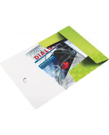 Teczka z gumką PP Leitz WOW, 15 mm, zielony