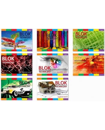 Interdruk Blok techniczny kolorowy A4 10