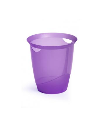 DURABLE TREND kosz na śmieci 16 l, fioletowy-przezroczysty