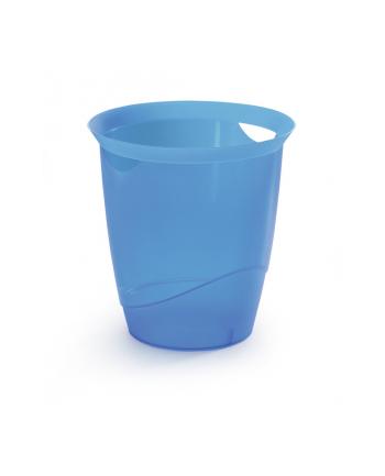 DURABLE TREND kosz na śmieci 16 l, niebieski-przezroczysty