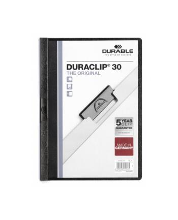DURABLE Skoroszyt zaciskowy DURACLIP A4, 1-30 kartek czarny